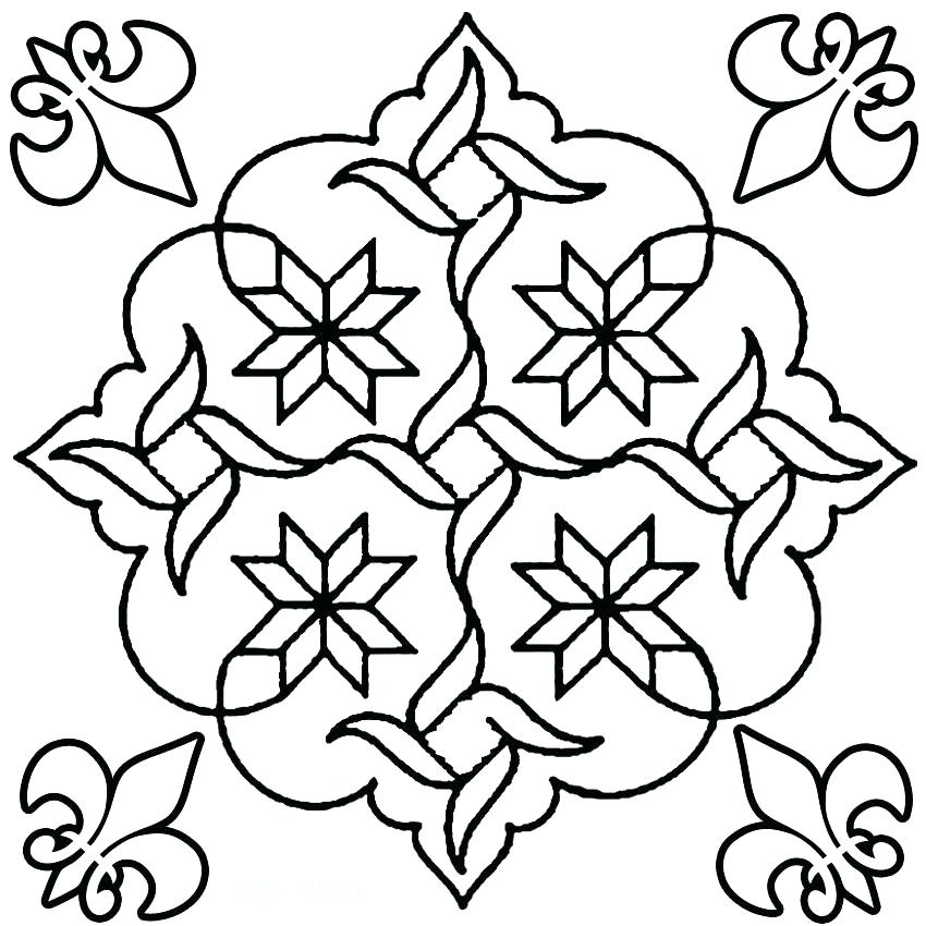 850x850 Rangoli Pattern Free Printables Coloring Page Coloring Pages