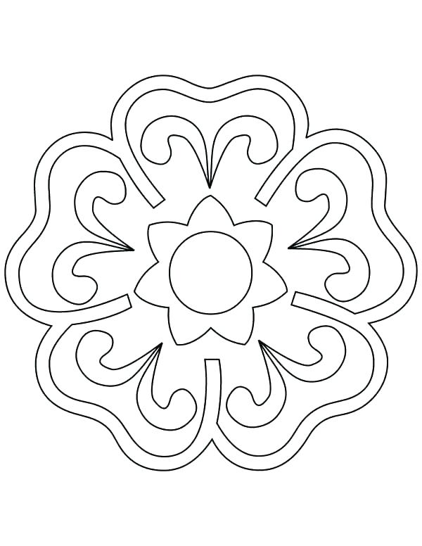 600x776 Rangoli Patterns Colouring Sheets Coloring Pages Blooming Flower