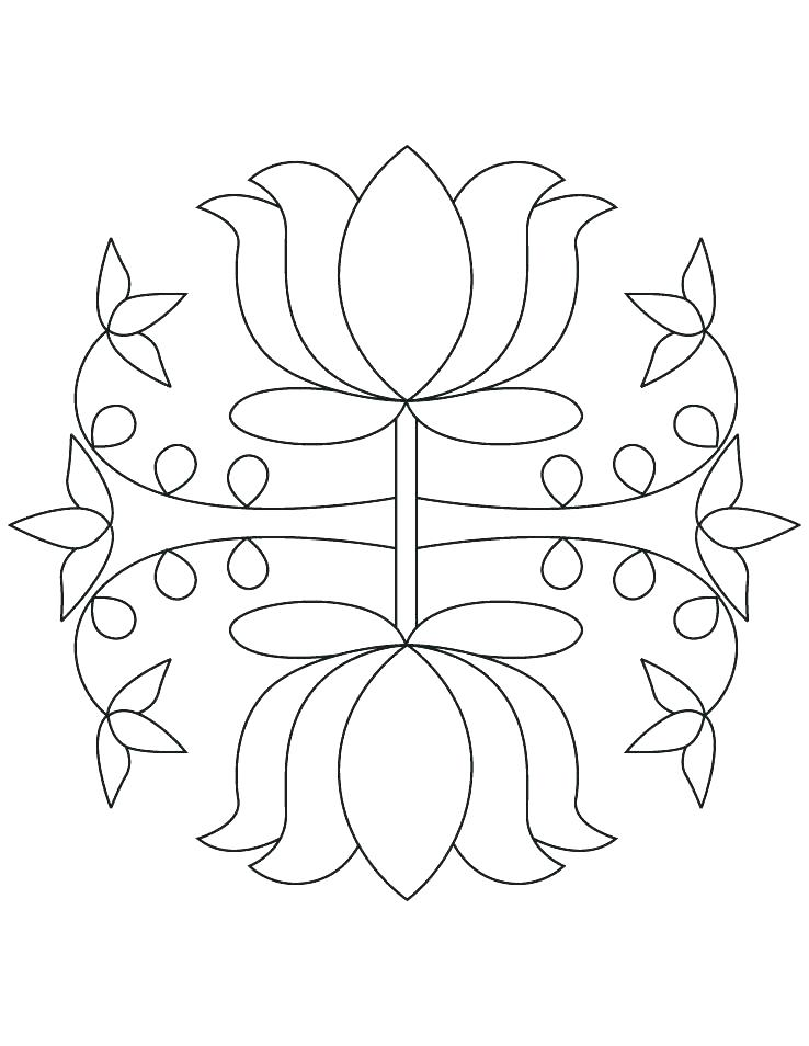 738x954 Rangoli Designs Printable Coloring Pages