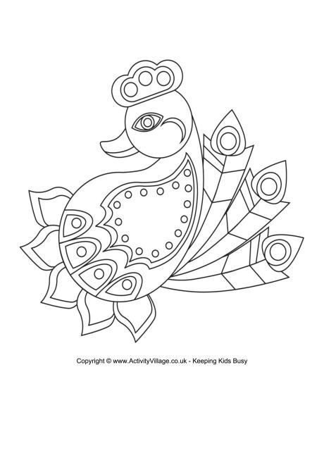 460x650 Diwali Rangoli Coloring Pages