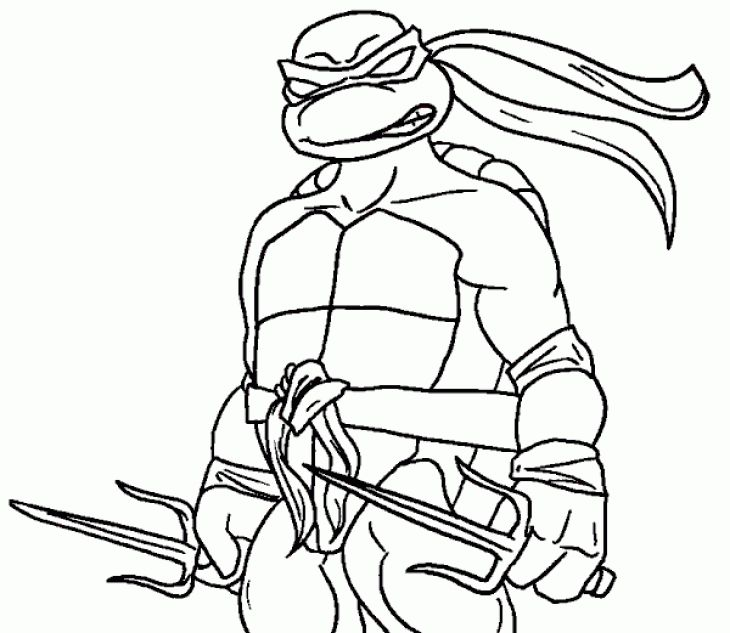 730x633 Raphael Ninja Turtle Coloring Page Superheroes Coloring Pages