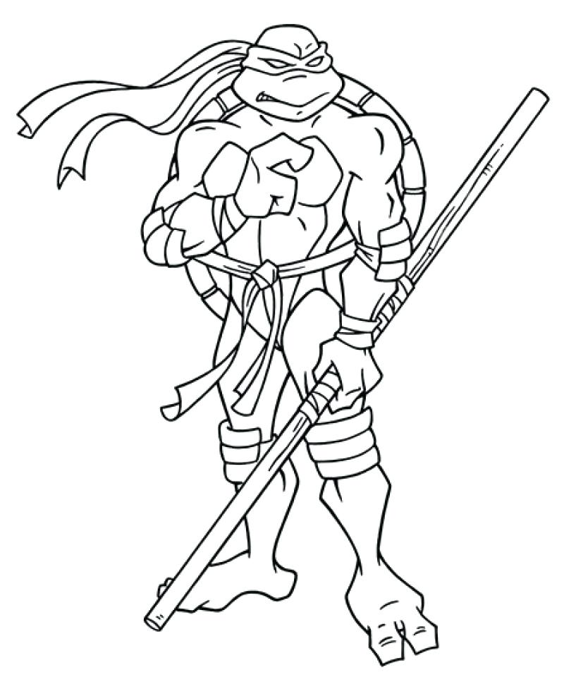 800x960 Ninja Turtles Coloring Page Icontent