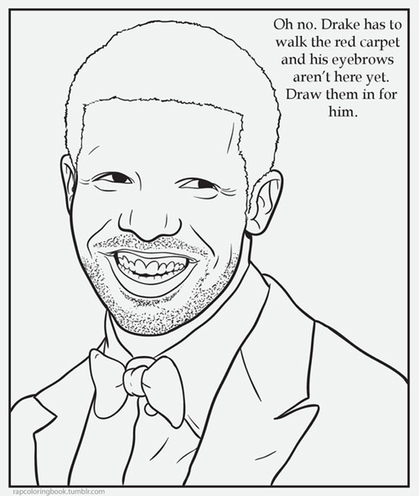 600x710 Drake Coloring Pages Rap Book Funny Tumblrs Books Give Back His
