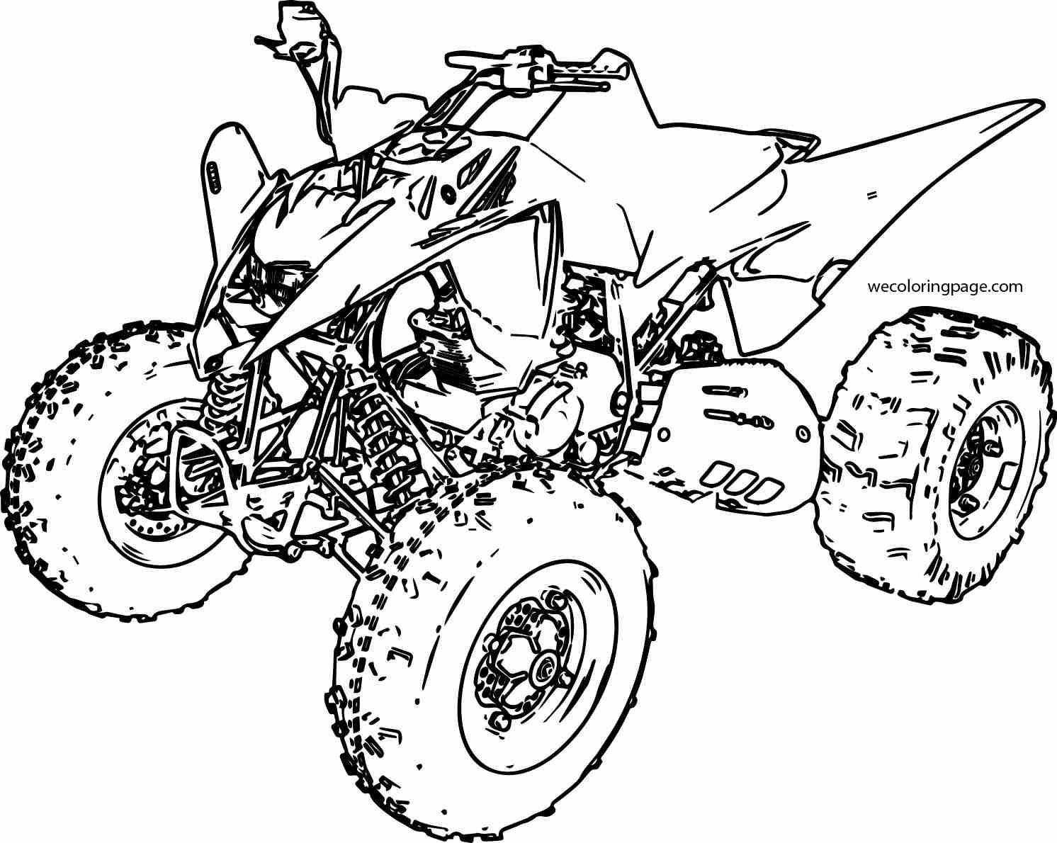 1492x1190 Sport Atv Yamaha Raptor Coloring Page Wecoloringpage And Wheeler