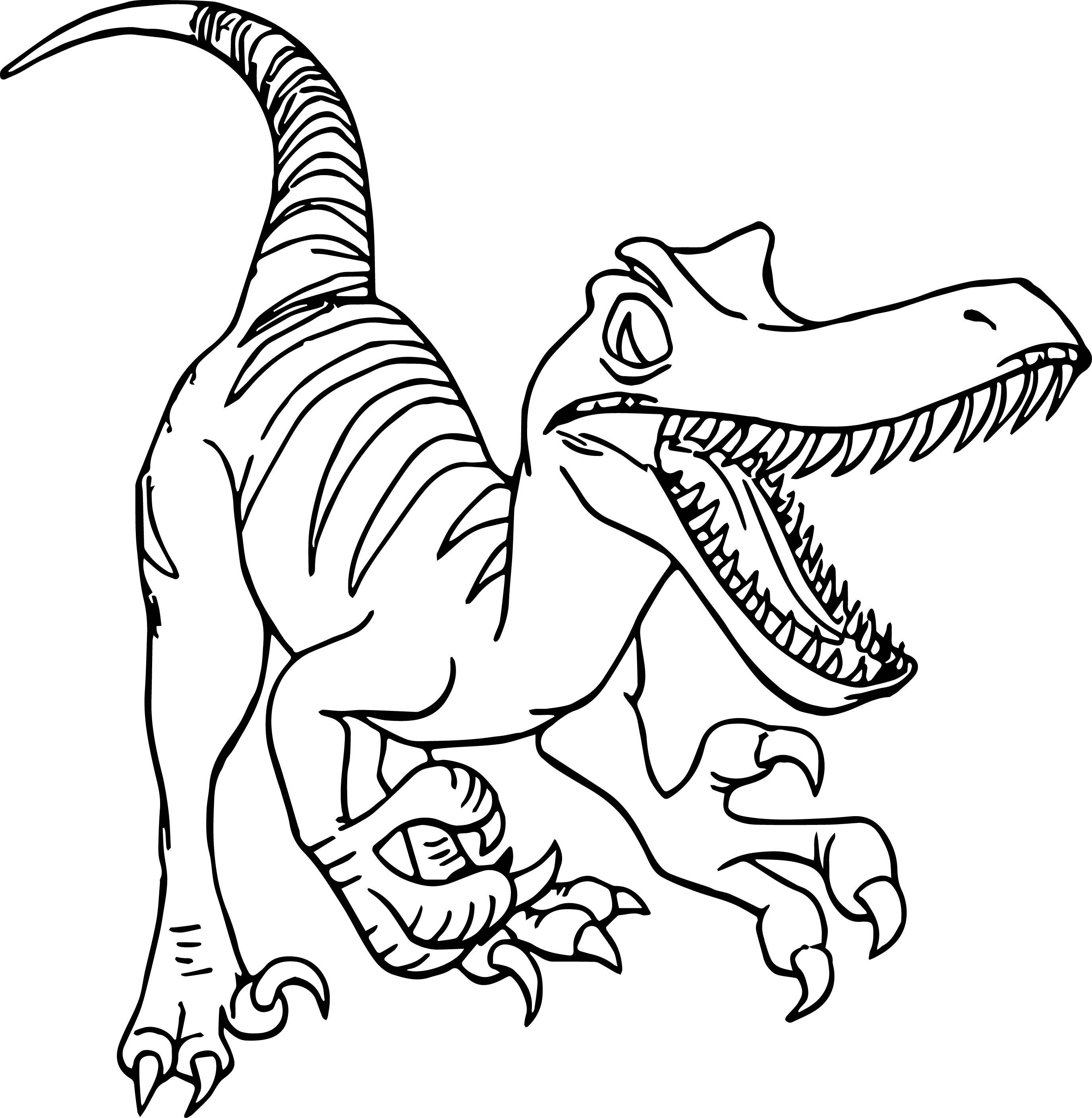 Raptor Dinosaur Coloring Pages at GetDrawings | Free download