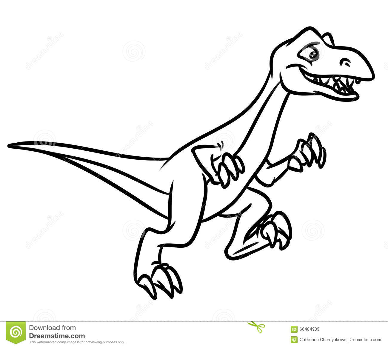 1300x1166 Raptor Dinosaur Jurassic Period Coloring Pages Stock Illustration