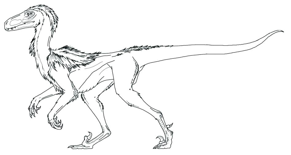 948x506 Velociraptor Coloring Page Coloring Page World Coloring Page