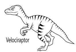 265x183 Velociraptor Dinosaur Coloring Page