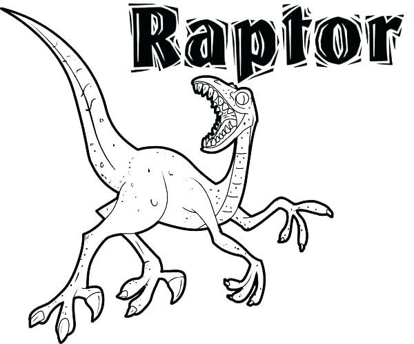600x499 Raptor Coloring Pages Blocktradex Club