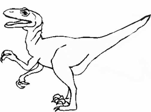 504x375 Best Photos Of Raptor Dinosaur Outline