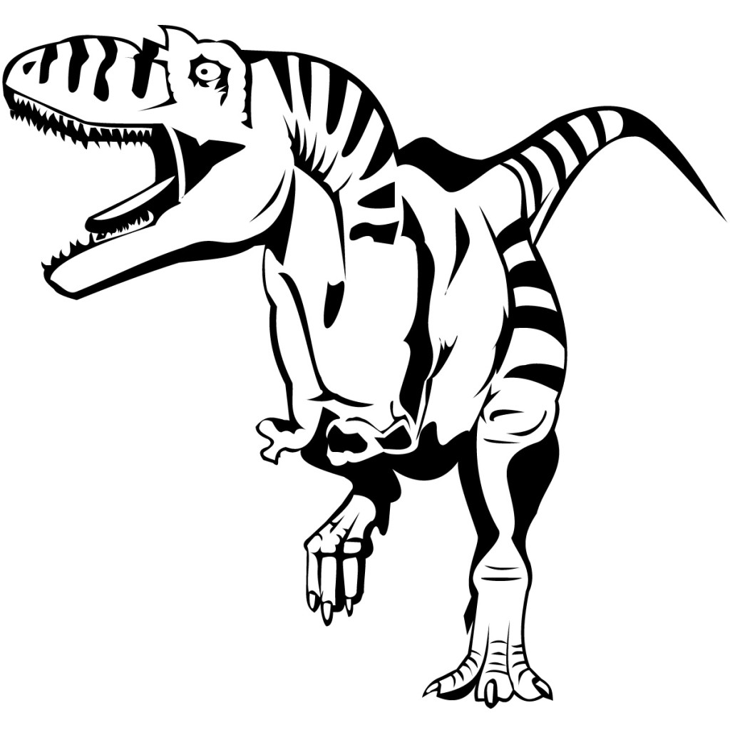 1024x1024 Dinosaur Coloring Pages