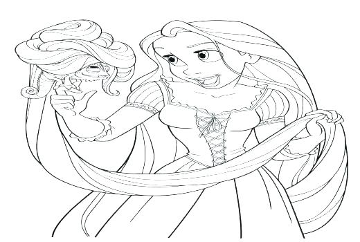 Rapunzel Baby Coloring Pages At Getdrawings Com Free For Personal