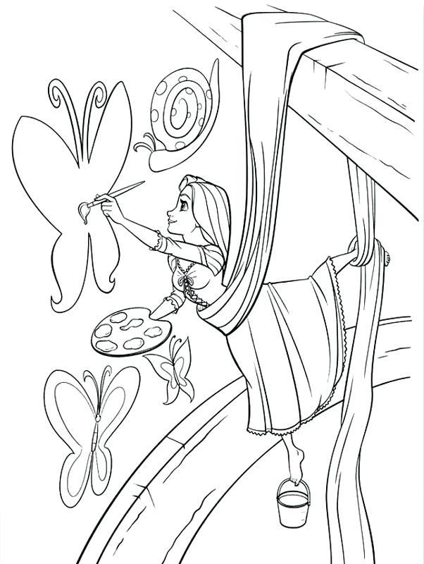 602x800 Rapunzel Color Pages Color Pages Painting Baby Princess Rapunzel