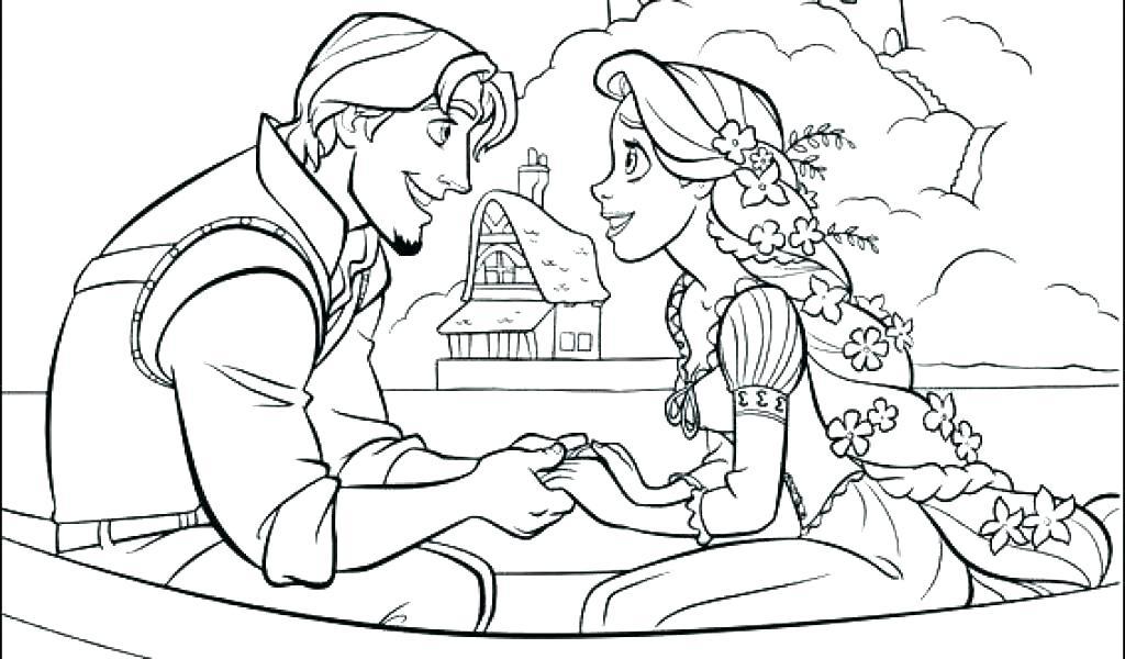1024x600 Coloring Pages Rapunzel Cortefocalsite Coloring Pages Rapunzel