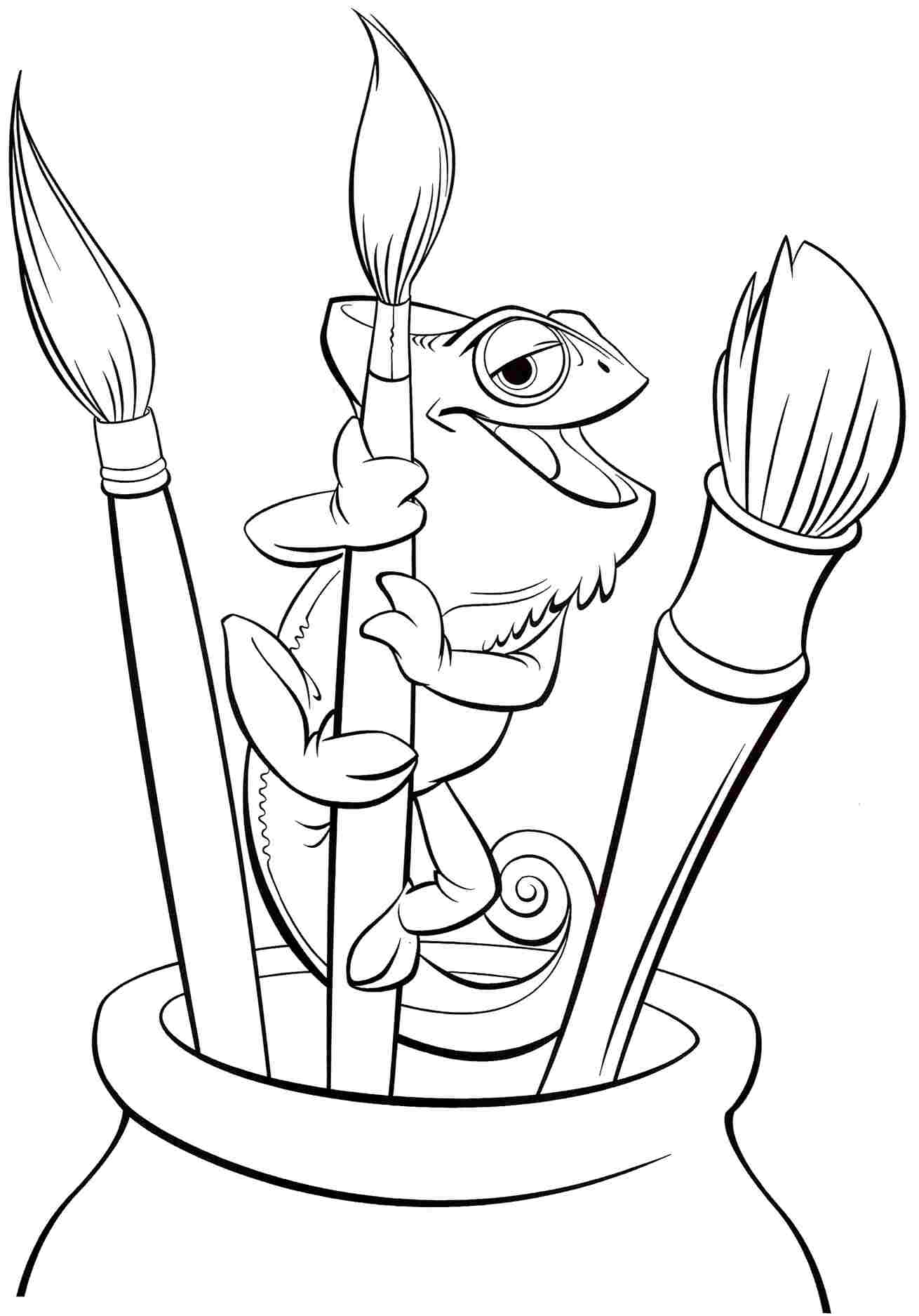 Rapunzel Tangled Coloring Pages at GetDrawings | Free download