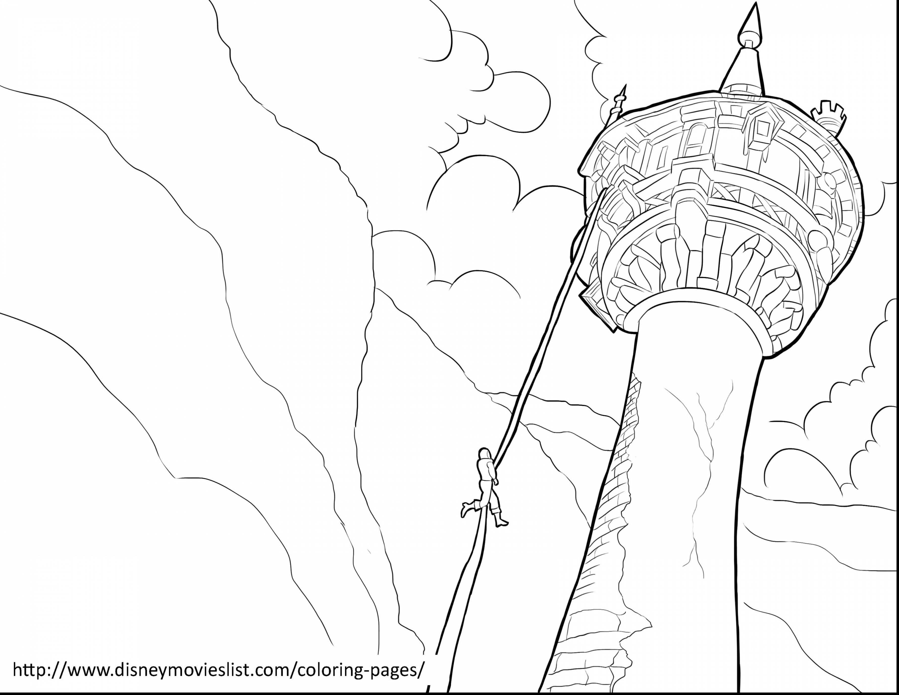 3630x2805 Rapunzel Tower Coloring Pages