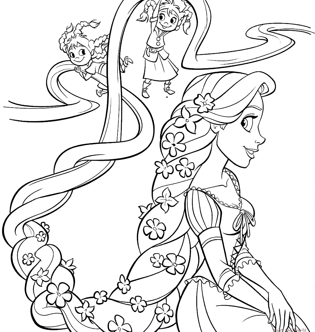 1024x1080 Get This Printable Rapunzel Coloring Pages With King And Queen