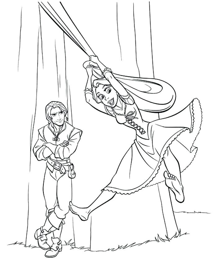 700x837 Rapunzel Tower Colouring Page Coloring Pages Best For Kids Free