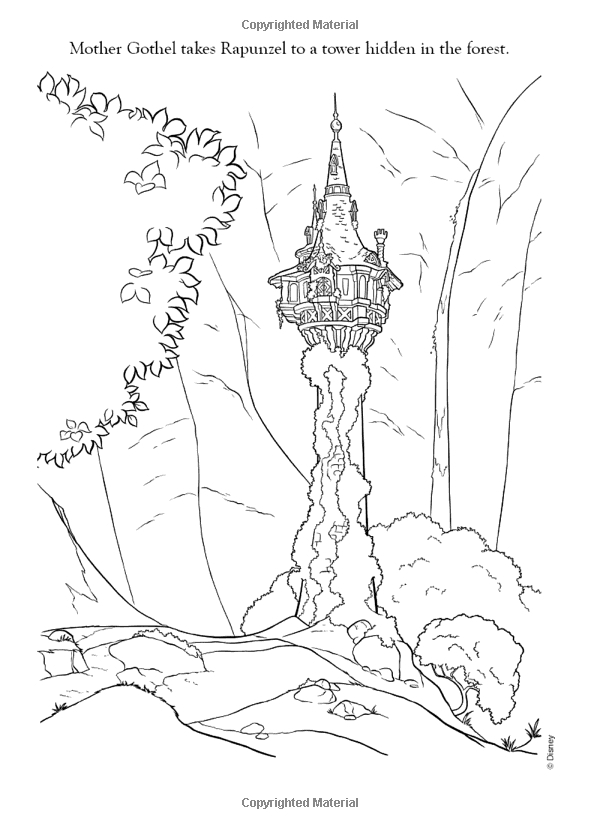 600x829 Tangled Tower Coloring Pages