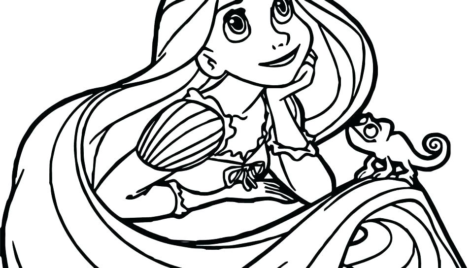 960x544 Rapunzel Tower Coloring Page