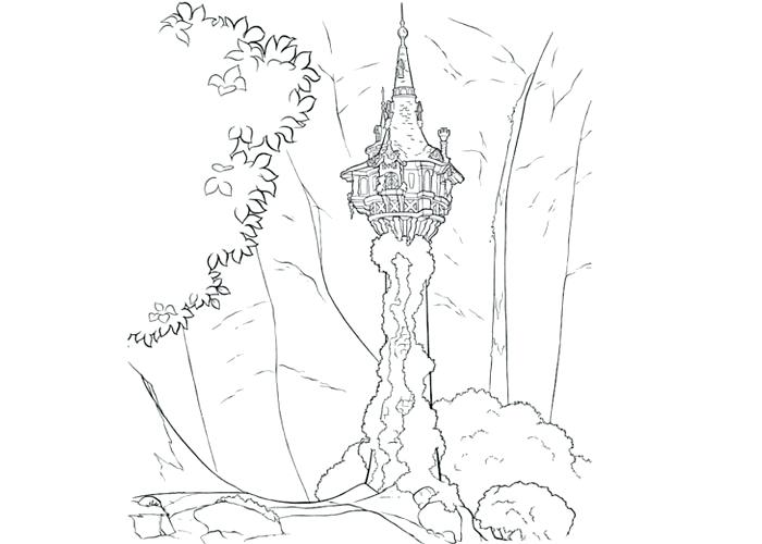 700x500 Coloring Pages Tangled Tower Coloring Pages Tangled Tower Coloring