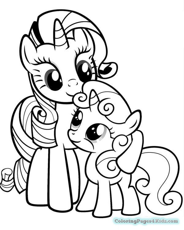 Rarity Coloring Pages