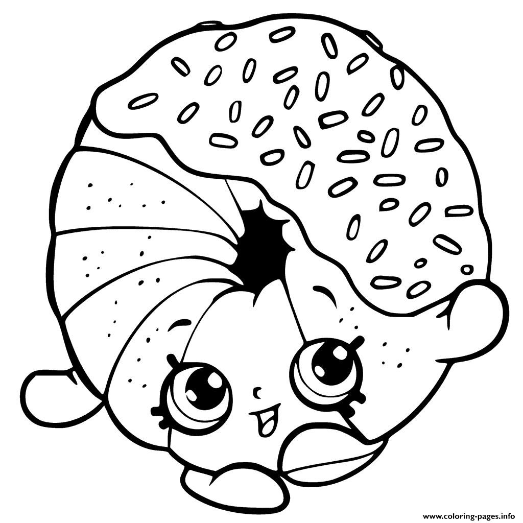 1024x1024 Donuts Coloring Pages Raspberry