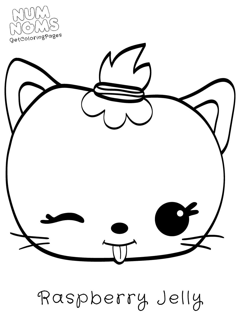 1024x1400 Num Noms Coloring Page Raspberry Jelly