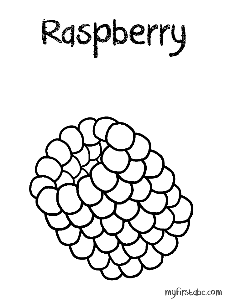 718x958 Raspberry Coloring Page
