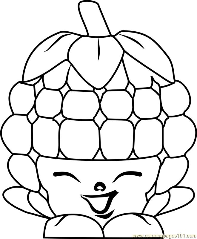 660x800 Asbury Raspberry Shopkins Coloring Page