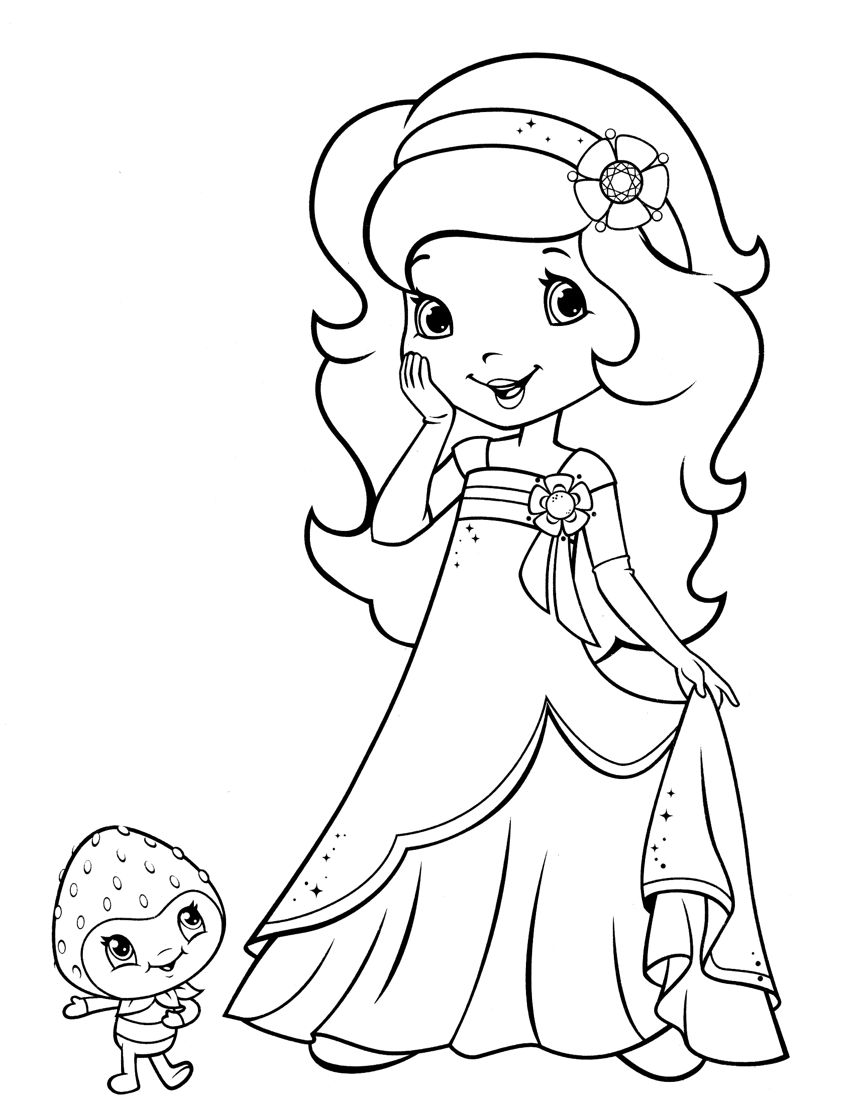 1700x2200 Strawberry Shortcake Coloring Pages, Strawberry Shortcake