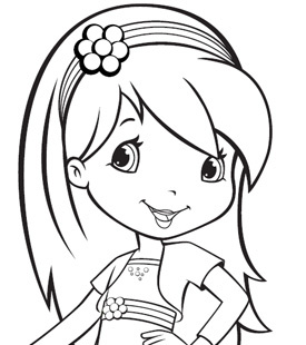 275x310 Strawberry Coloring Pages Strawberry Shortcake Raspberry Torte