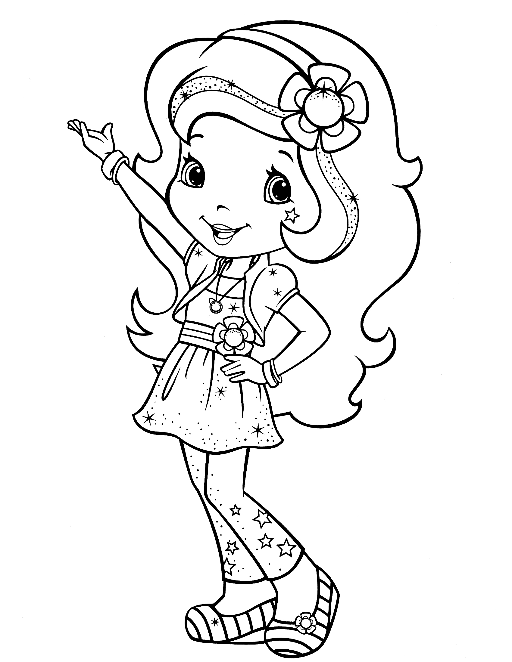 1700x2200 Strawberry Shortcake Coloring Page