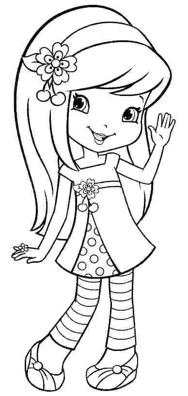 388x817 Strawberry Shortcake Coloring Pages Wealth Strawberry Shortcake