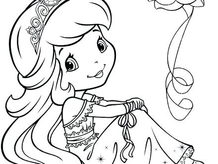 440x330 Strawberry Shortcake Princess Coloring Pages Strawberry Shortcake