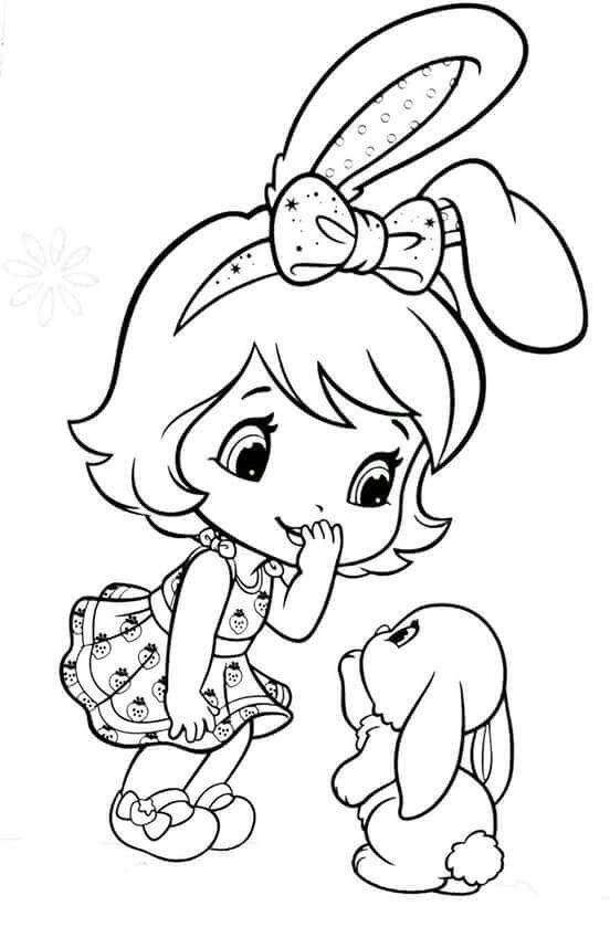 552x839 Bunny Strawberry Coloring Pages Bunny, Coloring