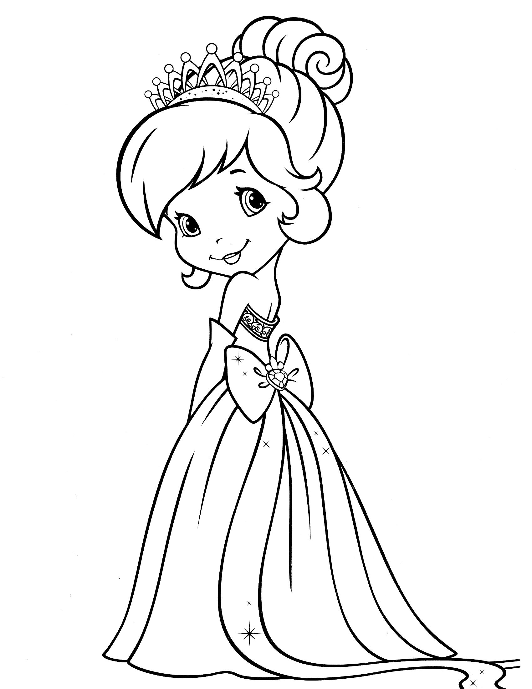 1700x2200 Strawberry Shortcake And Friends Coloring Pages To Print