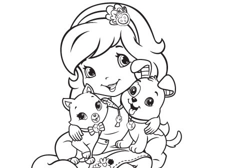 450x336 Coloring Pages Of Strawberry Shortcake And Friends Beautiful