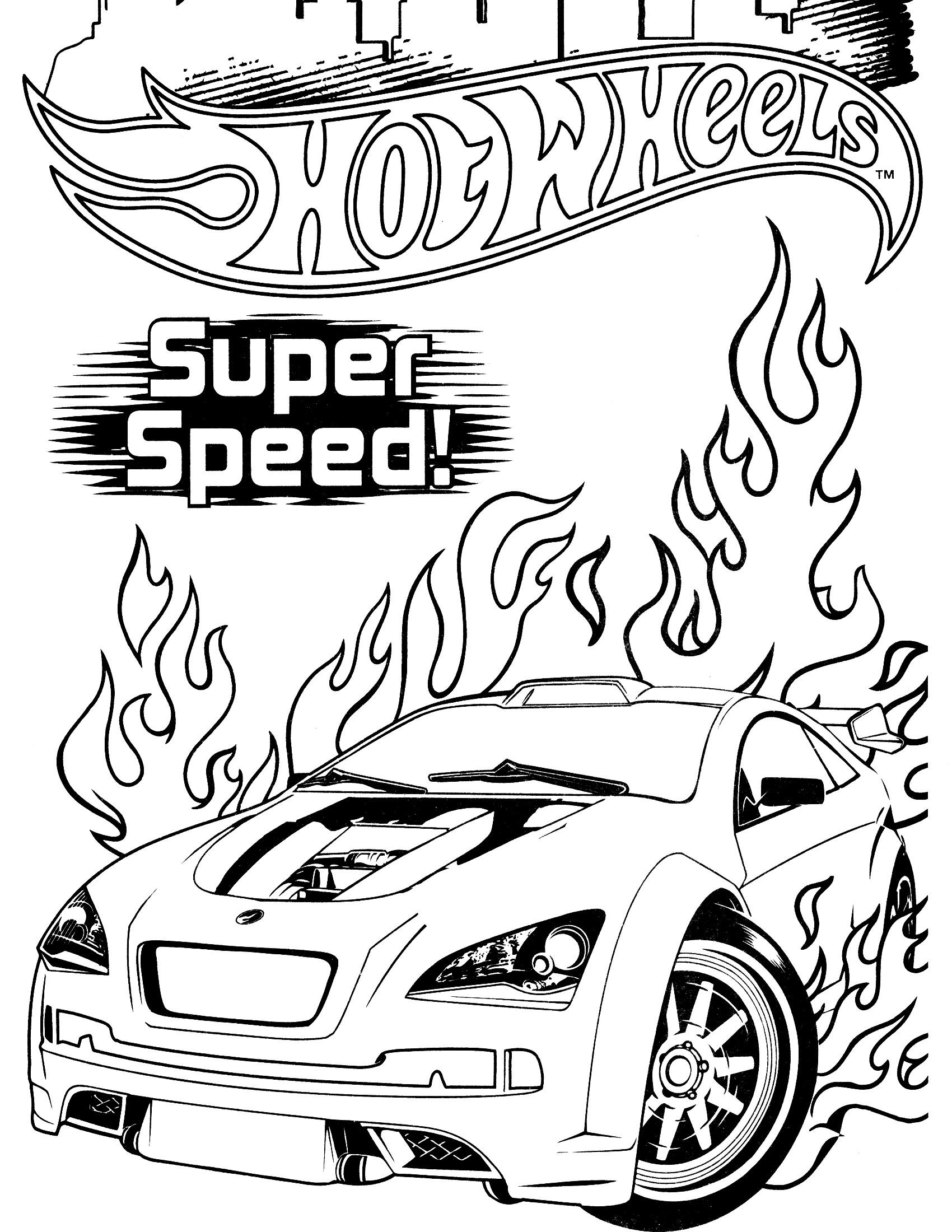 1700x2200 Elegant Dibujos De Hot Wheels Para Colorear En Colorear Free