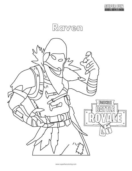 464x600 Fortnite Raven Coloring Page
