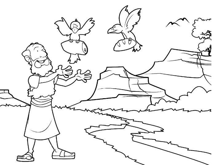 696x536 Prophet Elijah Bible Coloring Pages Parenting