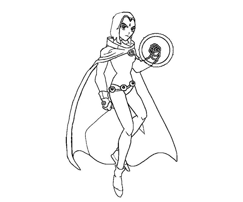 800x667 Raven From Teen Titans Coloring Pages Coloring Kids Dc Super