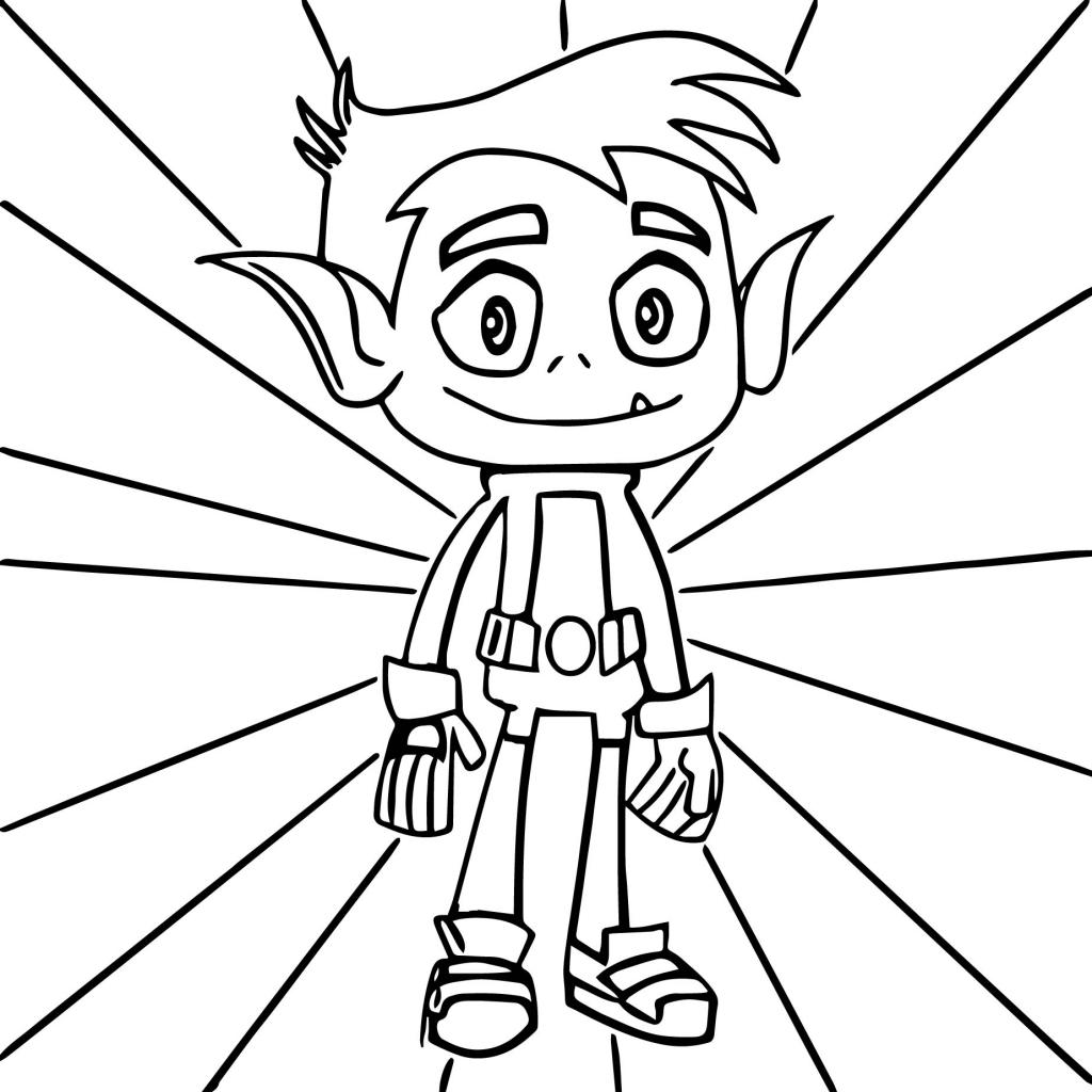 1024x1024 Beast Boy Giraffe Teen Titans Go Coloring Page Wecoloringpage