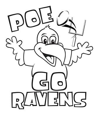 340x397 Ravens Coloring Page Baltimore Ravens Ravenstown Kids Coloring