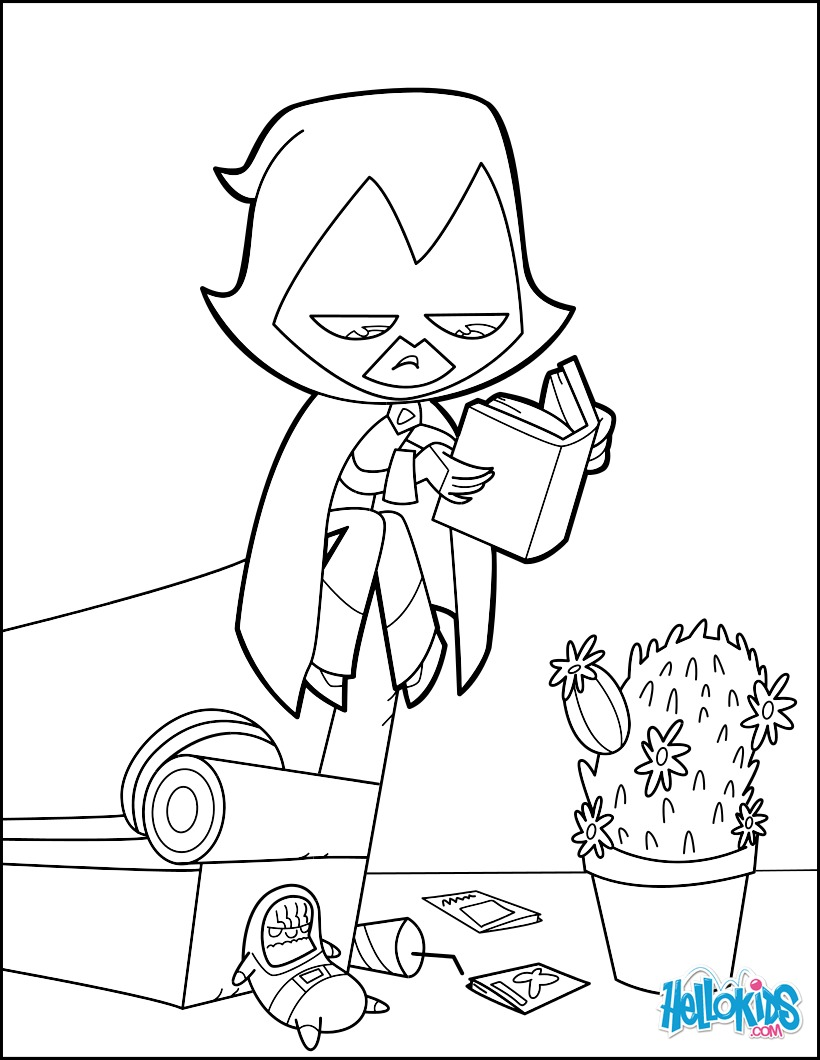 820x1060 Teen Titan Raven Coloring Pages