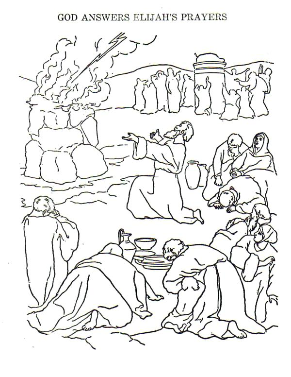 600x776 Elijah Coloring Page Coloring Pages And The Prophets Of Coloring