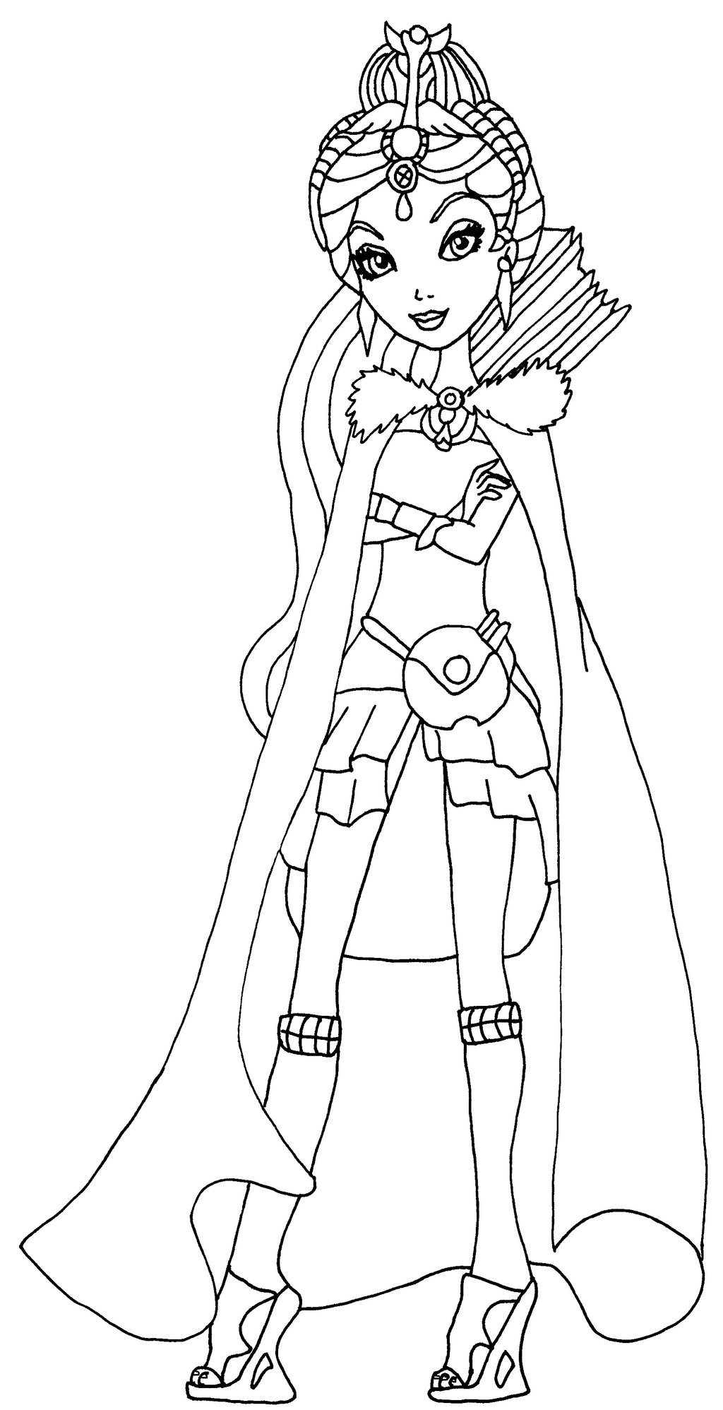 Raven Queen Coloring Page at GetDrawings | Free download
