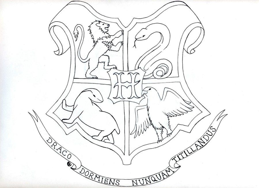 Ravenclaw Crest Coloring Pages