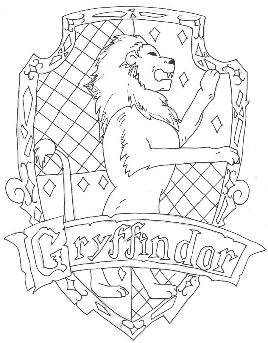 900x1153 Gryffindor Crest Coloring Page