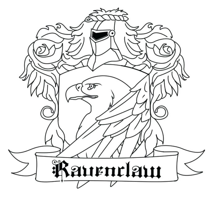 686x639 Gryffindor Crest Coloring Page Crest Coloring Pages Hogwarts House